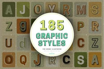 CreativeMarket - Retro Typography Graphic Styles