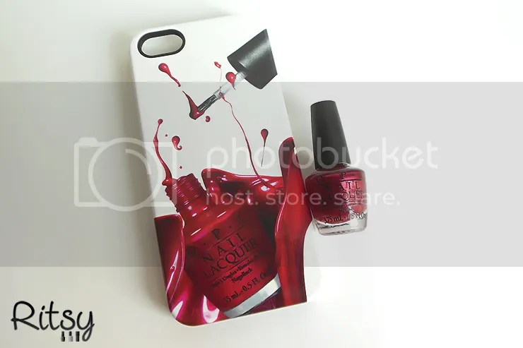 OPI I'm Not Really A Waitress iPhone Case