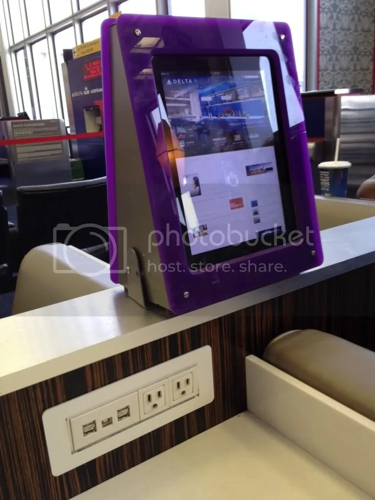 iPad Setup At JFK Delta Terminal - Photo Credit: David Abbey
