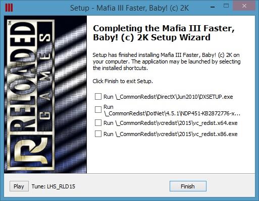 Mafia III Faster Baby-RELOADED