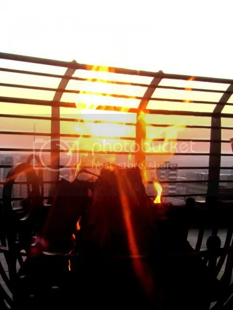 Parktonian Sunset through the FIRE