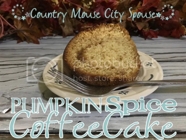 Pumpkin Spice Coffee Cake- Country Mouse City Spouse