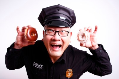 Cop with Doughnuts