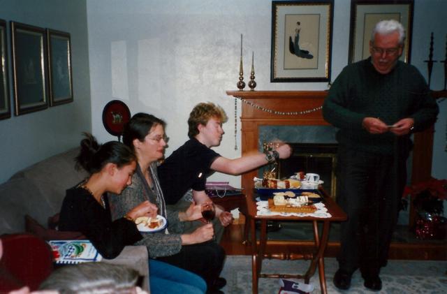 2004 Christmas at Lee's; Jamie, Jean, Edward, Bob Allen