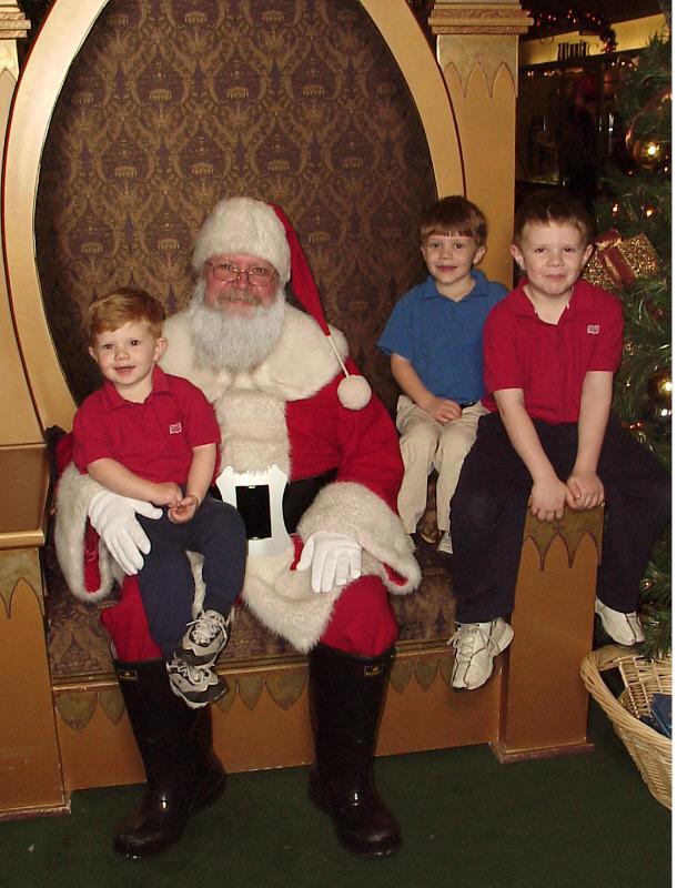 2003 Chistmas with santa