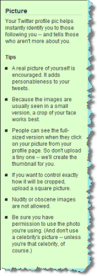 click picture instructions How to upload your picture in Twitter   Step by step