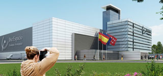 IberEspacio new building at Torrejon de Ardoz, day view