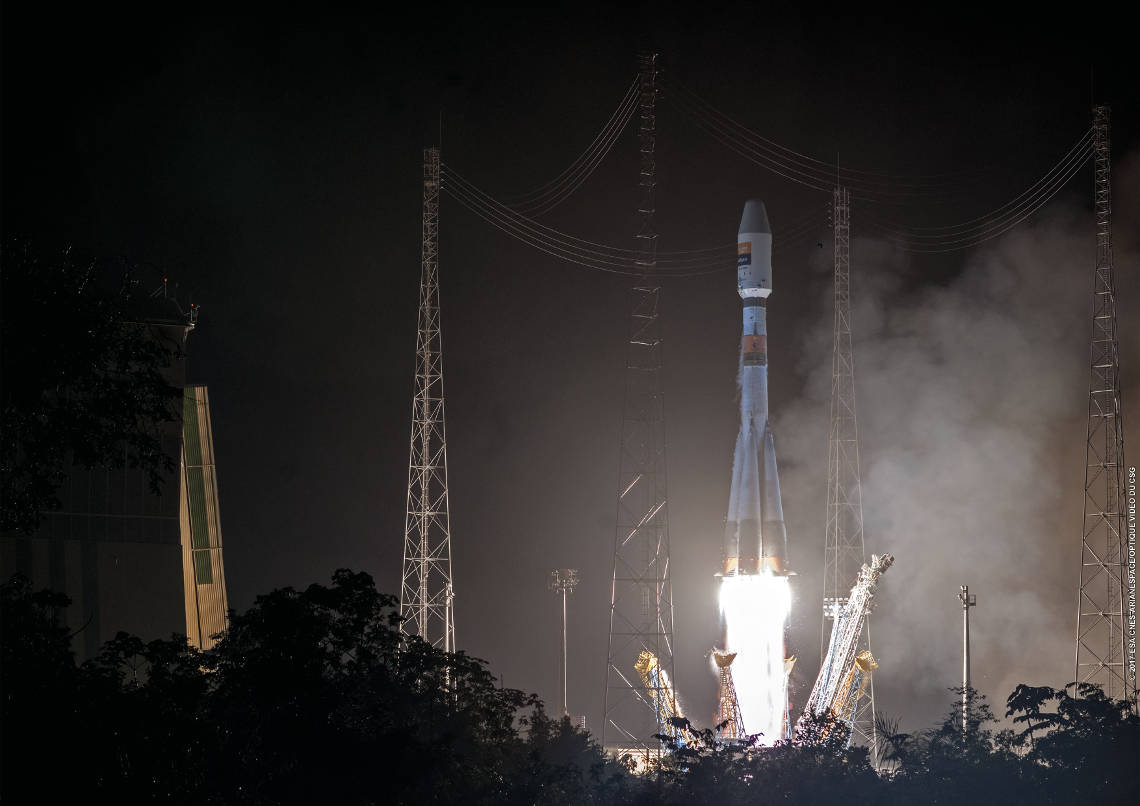 Launch of Hispasat 36-W1, first Small Geo Platform, on board a Soyuz