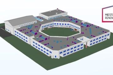 Ateities mokyklos renovacija. BIM projektas. Miesto renovacija, UAB