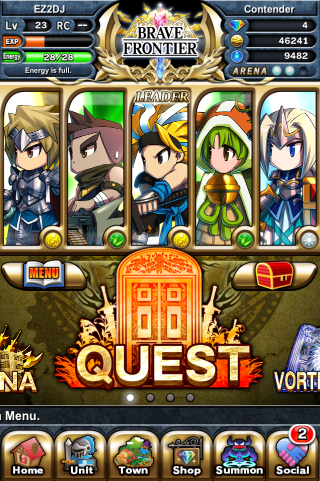 Brave Frontier Home