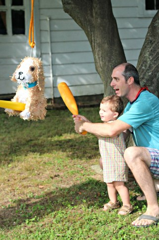 pinata with daddy
