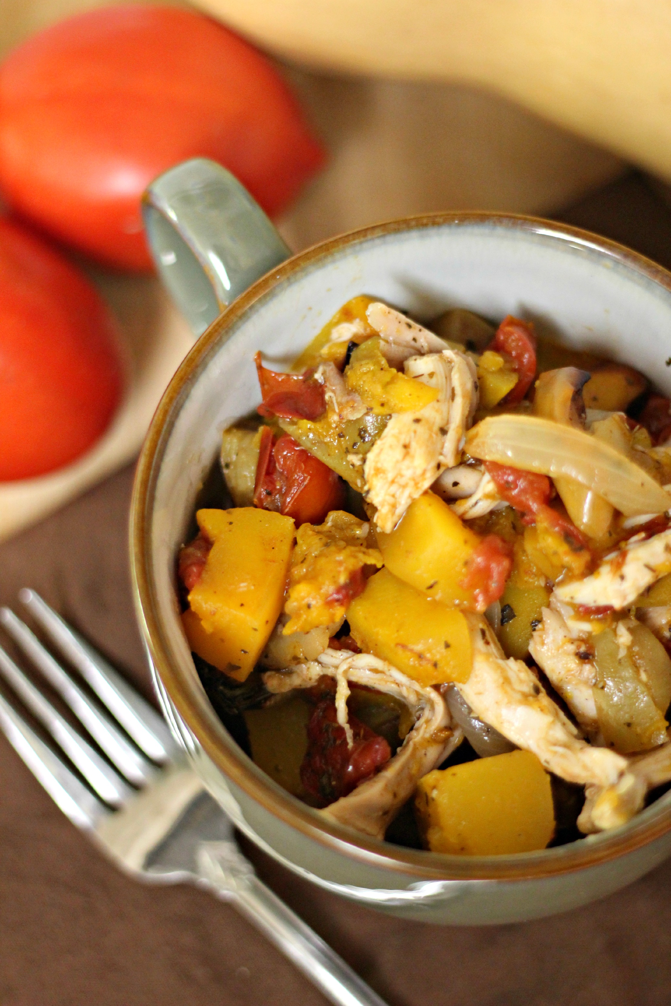 Roasted Squash and Chicken Stew