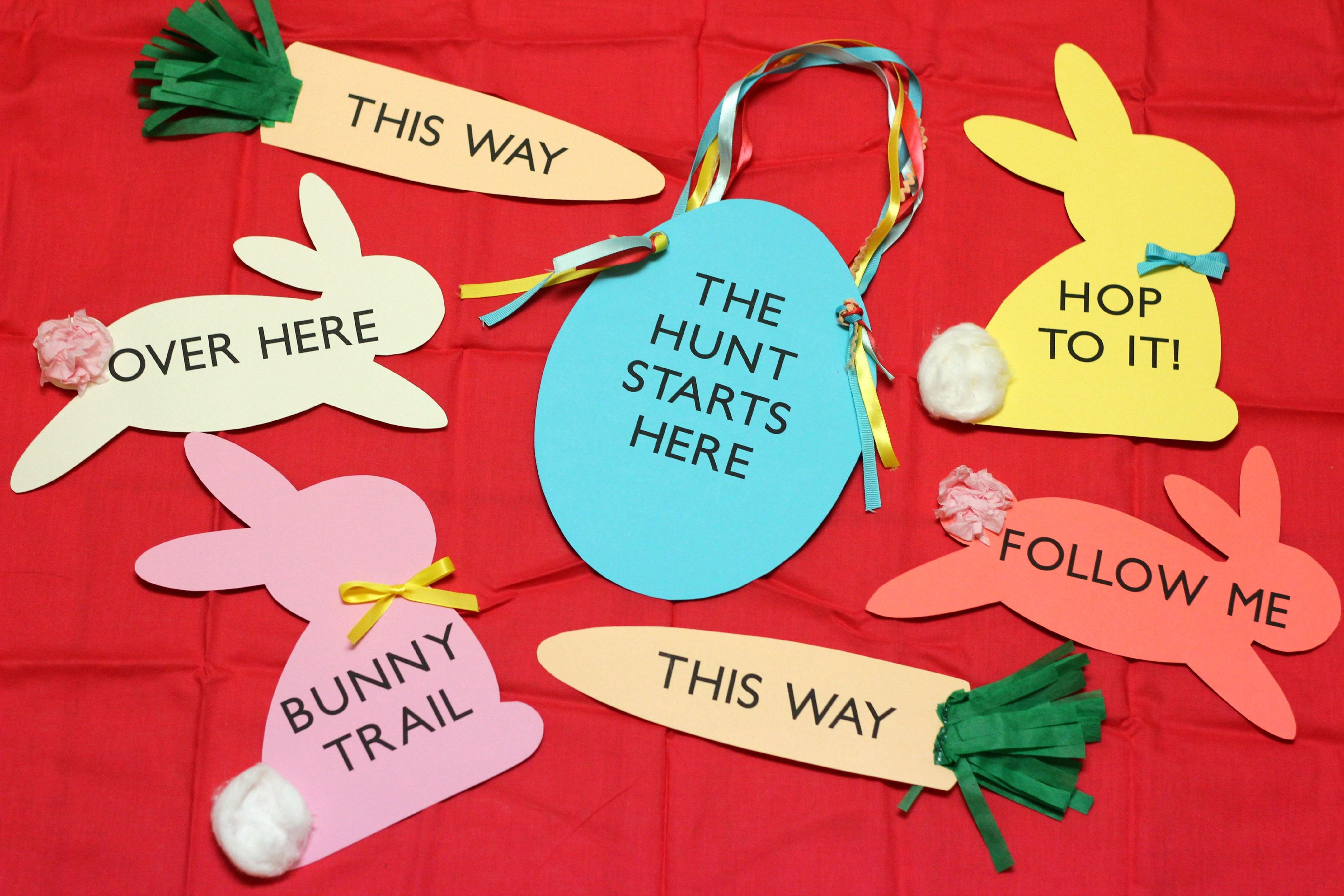 Easter Egg Hunt Signs Kit Giveaway