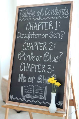 yellow book theme gender reveal