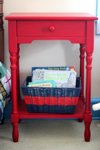 red-nightstand