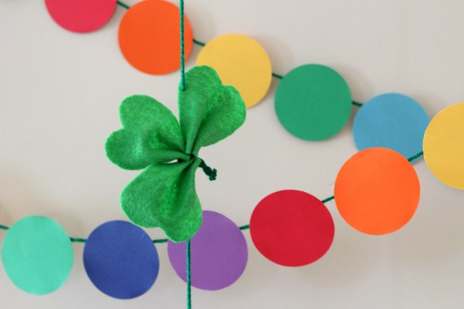 St. Patrick's Day Rainbow and Shamrock Decorations