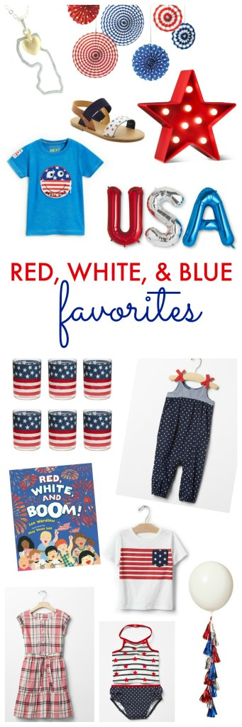 Red, White and Blue Favorites: 4th of July Inspiration