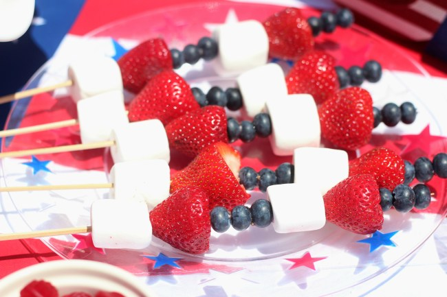 4th of july fruit kabobs