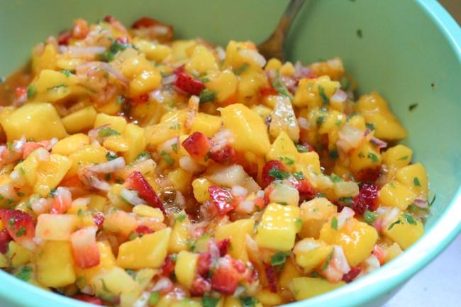 Seared Tropical Salmon with Mango Salsa Recipe