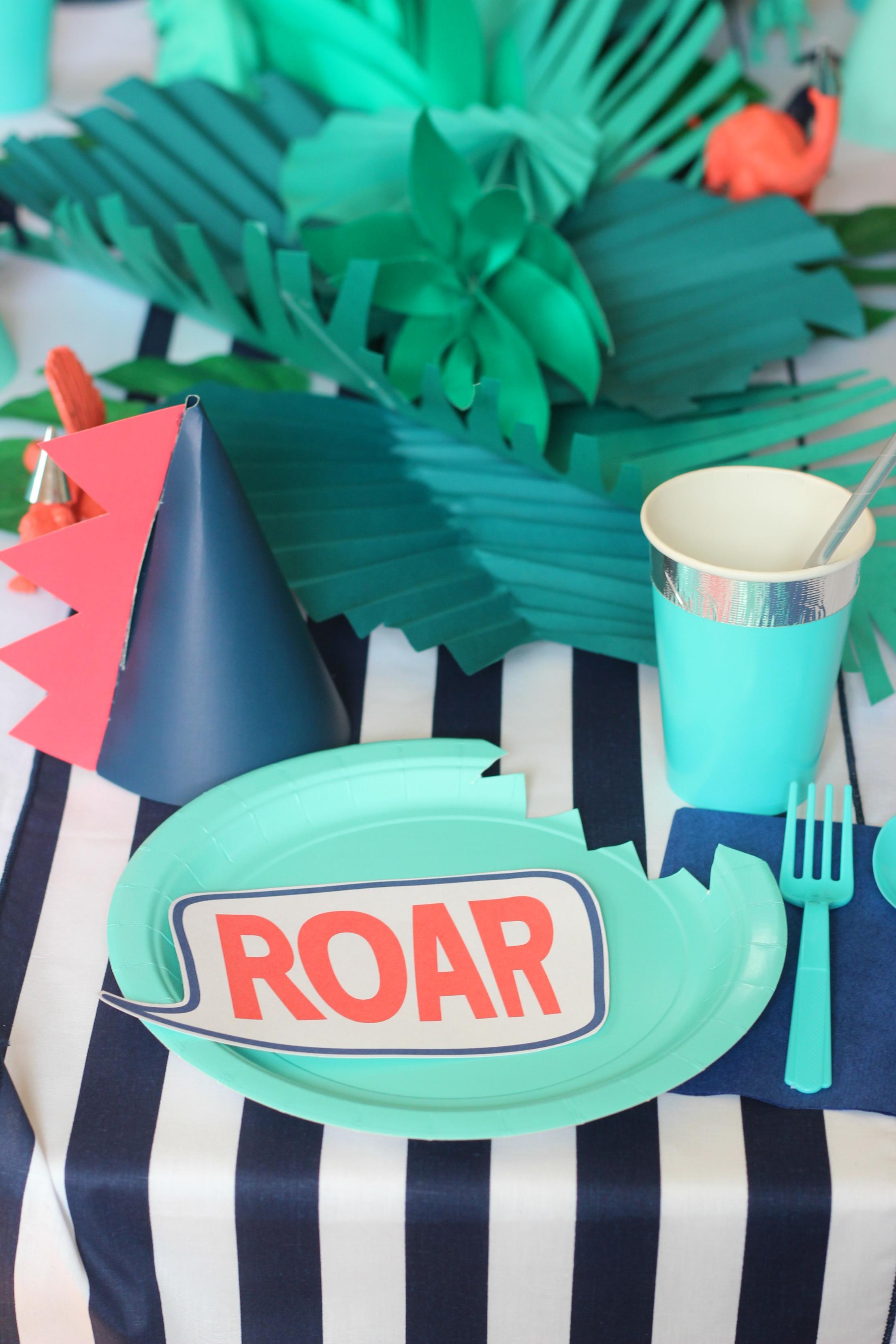 Dinosaur Birthday Party Modern Roar Dino Boys Party