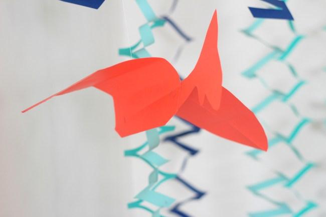 hanging paper pterodactyl