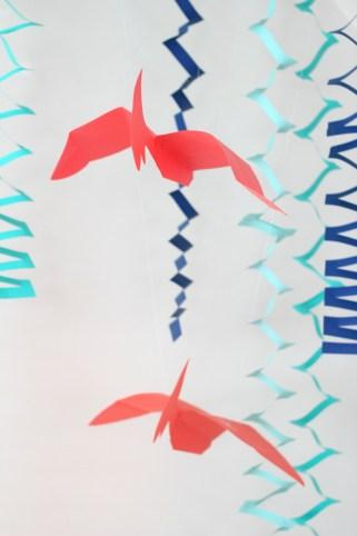 paper hanging pterodactyl