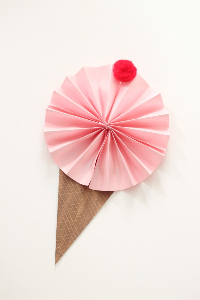simple ice cream cone fan summer craft