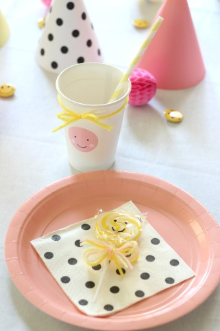 smiley face plate setting