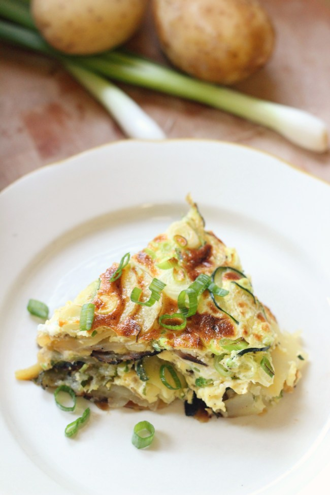 Zucchini Potato Frittata - Easy Egg Dish Meal