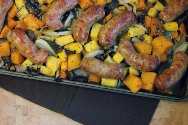 Roasted Sausage, Polenta and Squash Recipe