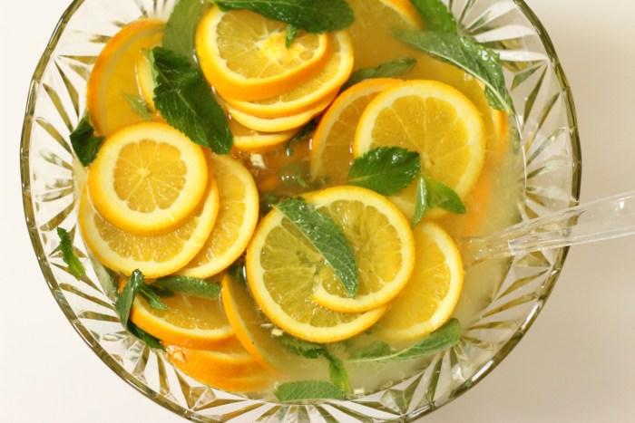 Winter White Citrus Mint Sangria