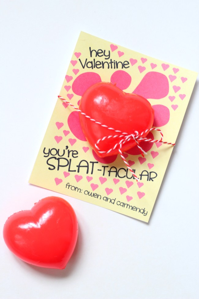 Heart Splat Ball Valentines
