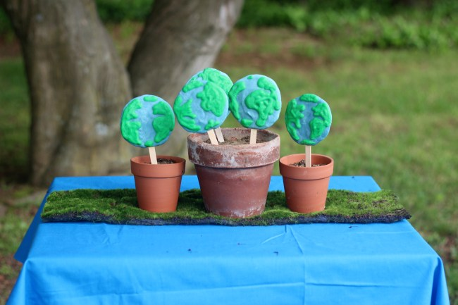 Earth Day Frozen Greek Yogurt World Popsicle Snacks