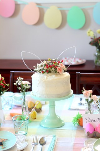 easter party bunny cake