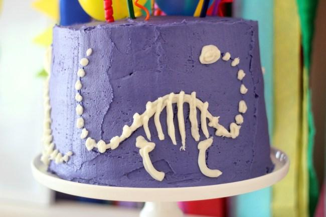 Dinosaur Fossil Party - a rainbow dino dig celebration!