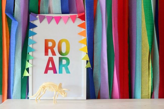 Dinosaur Fossil Birthday Party - a rainbow dino dig celebration!