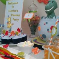 Inspiration ~ Vibrant Children's 'A Dinosaur Tea' Birthday Party