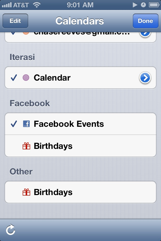 turn off iphone facebook birthday notifications in ios 6