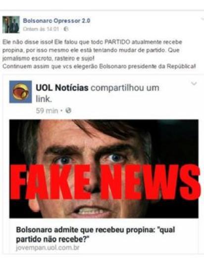 Postagem de página Bolsonaro Opressor 2.0 defendendo deputado