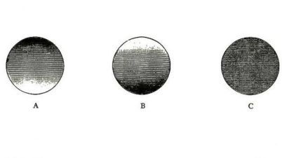 Círculos con distintos grados de oscuro para ilustrar el efecto