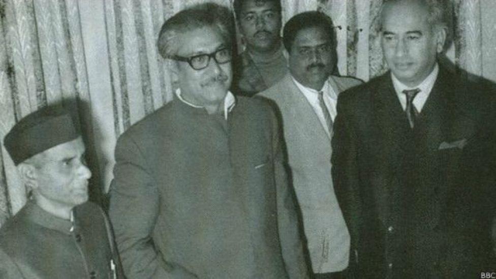 জুলফিকার আলী ভুট্টোর সাথে শেখ মুজিবুর রহমান