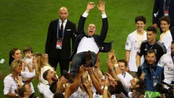 Zidane tras el triunfo en la Champions