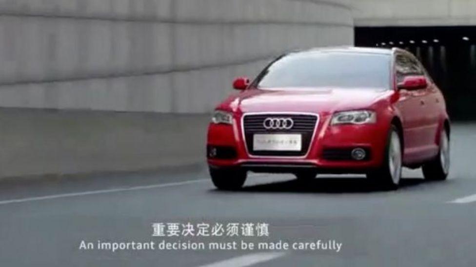 Vehículo Audi en la publicidad.
