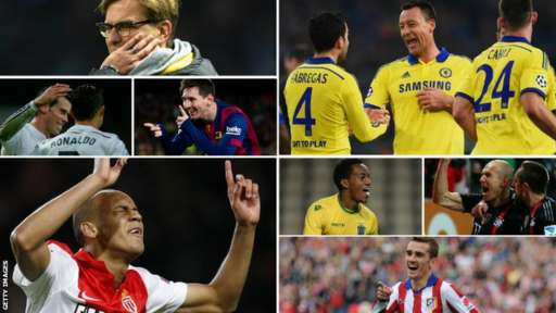 Champions League players from sides which topped their groups