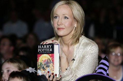 JK Rowling and Harry Potter book