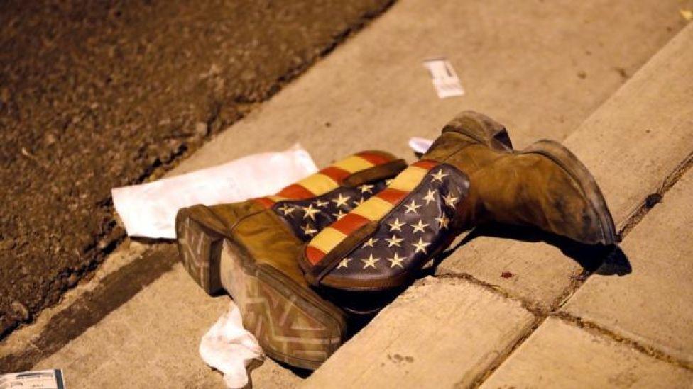 Botas con la bandera de EE.UU.