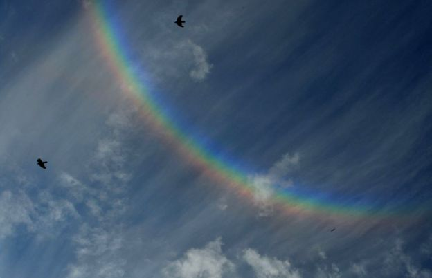 Who  What  Why  How common are upside down rainbows    BBC News Upside down rainbow