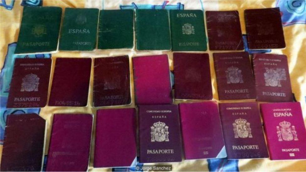 Jorge Sanchez'in pasaportları