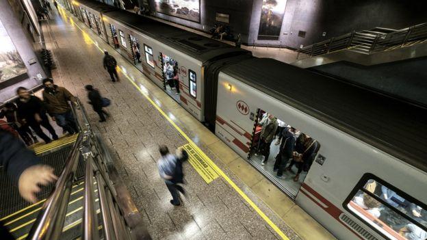 Metro de Santiago de Chile.