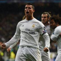 Ronaldo celebra uno de sus tres goles contra el Wolfsbburgo.
